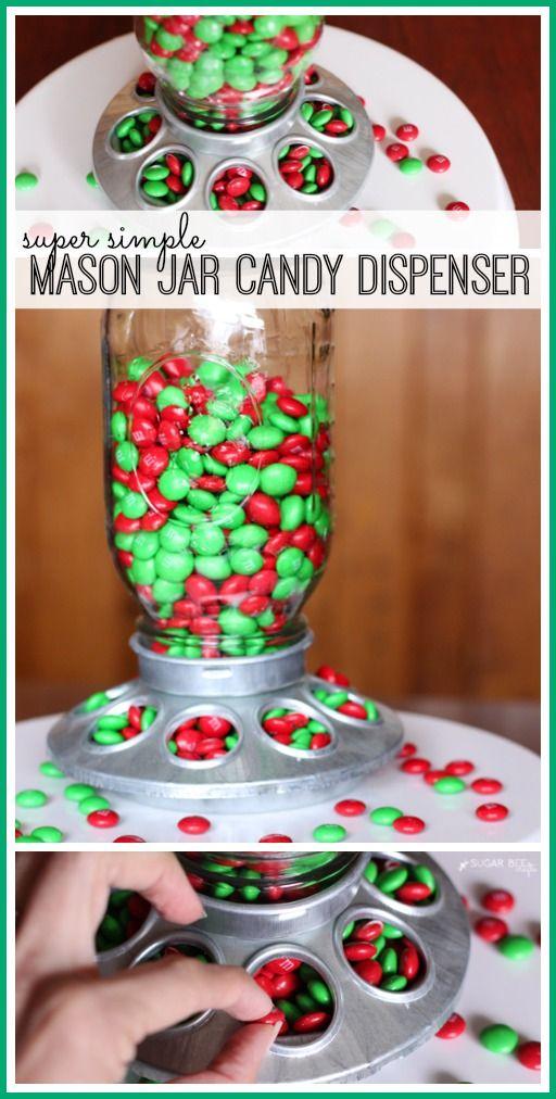 make your own Mason Jar Candy Dispenser - Sugar Bee Crafts