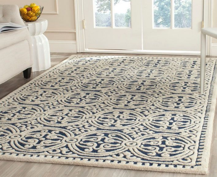 NavyMoroccanRug.jpg (708×577) Blue wool rugs
