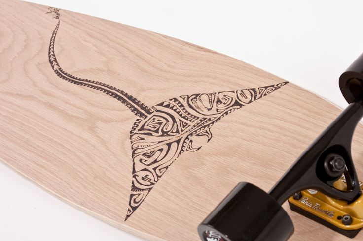 amazing pintail with burned polynesian art.