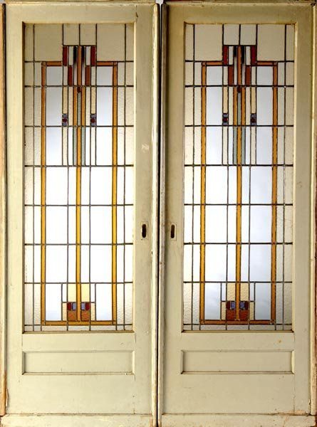 1105 best arts crafts home interior images on pinterest for Interior pocket doors with glass panels