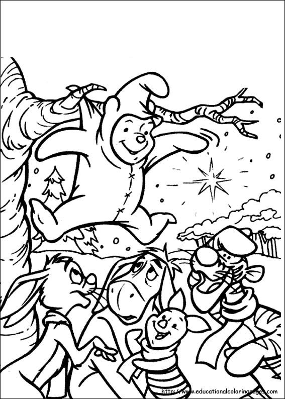 Winnie The Pooh Xmas Site With Hundreds Of Free Printable Coloring Pages Here Including A Whole Section Disney Characters Such As