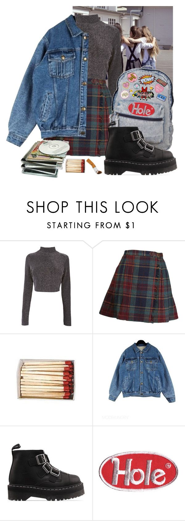 """90s schoolgirl//"" by vforvagina ❤ liked on Polyvore featuring Dr. Martens"