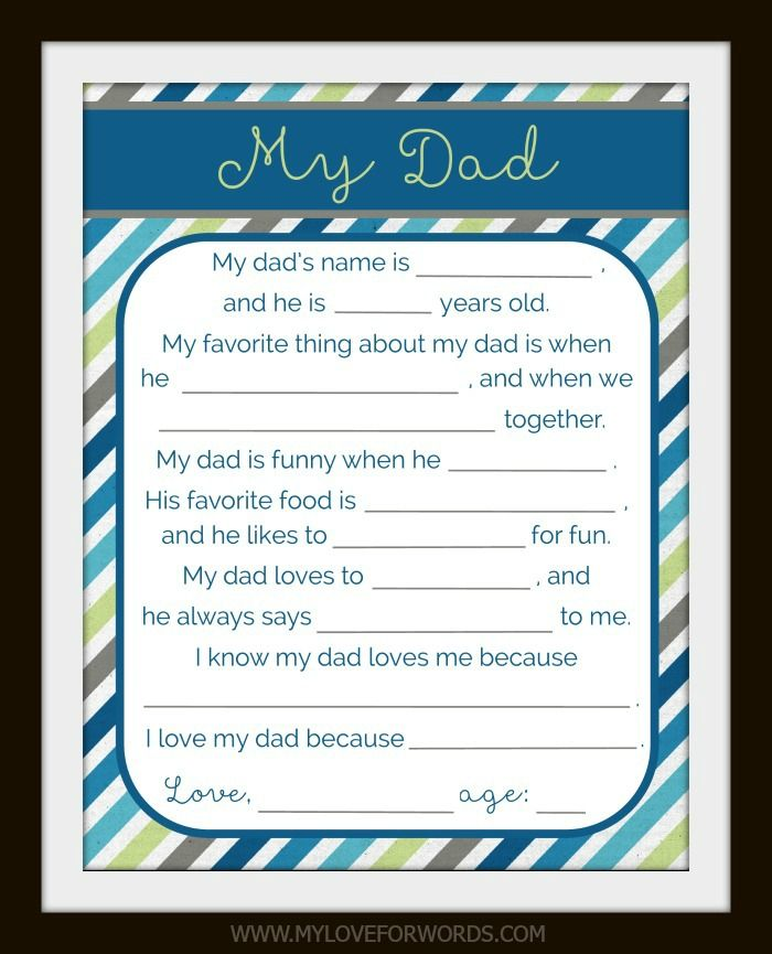 The best gifts come from the heart. Jewelry and fancy electronics are nice, but nothing beats a heartfelt message and a gift filled with love, which is why I made this free printable for dad. It's perfect for Father's Day, Christmas, or any day you want to let dad know how special he is.
