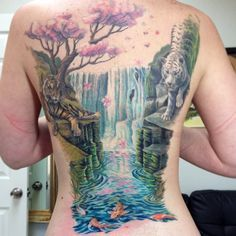 butterfly and waterfalls tattoos - Google Search   cool tattoos ...