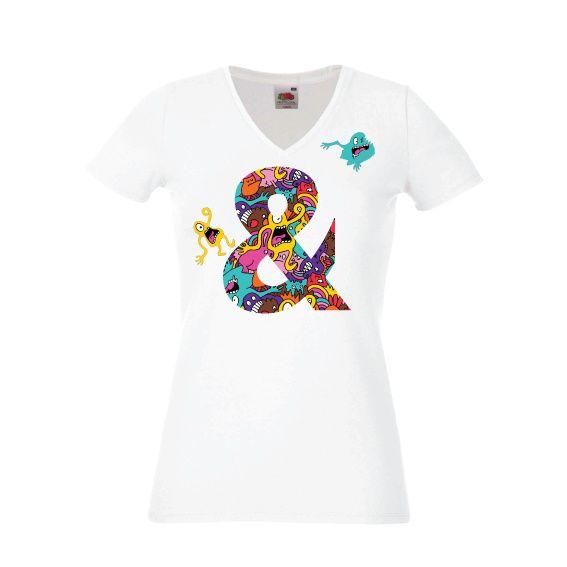 Dames | Lady-fit tshirt Ampersand comic  (613780/820)