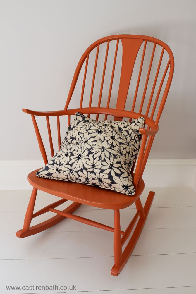 Ercol rocking chair painted in farrow and ball's charlottes lock