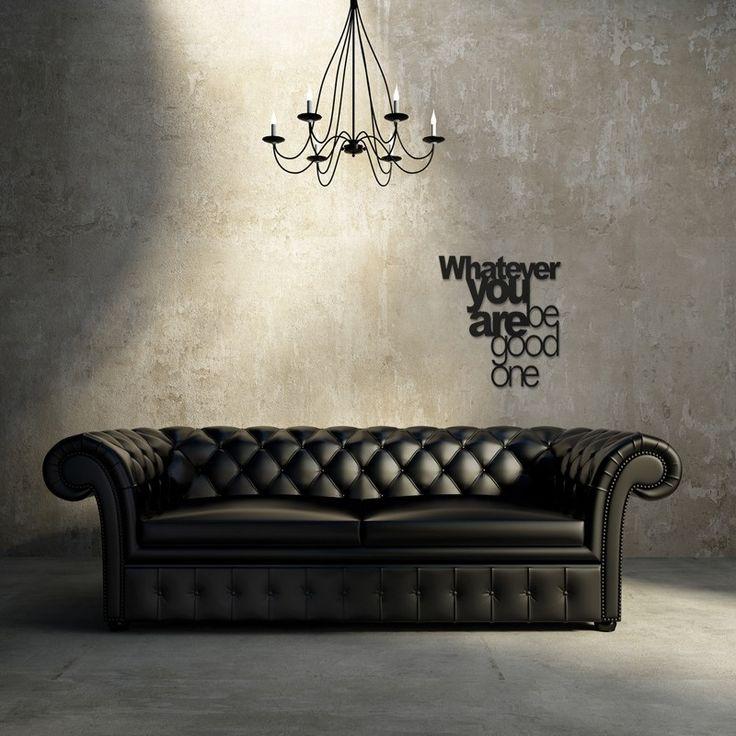 Napis na ścianę WHATEVER YOU DO BE GOOD ONE czarny - Dekoracje ścienne - Meble, dekoracje, oświetlenie Biokominki,Grille ogrodowe,Drzwi, Podłogi,Meble,Dekoracje