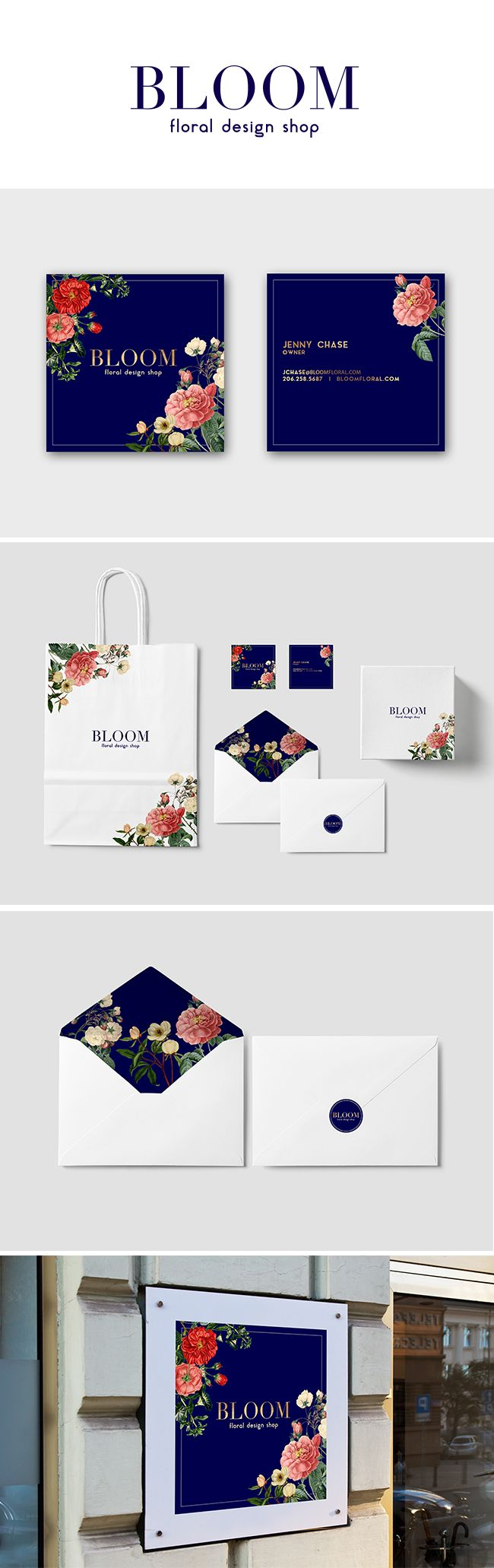 Bloom Floral Brand Stationary and Logo Design/Mockup https://www.kznwedding.dj