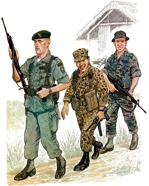 • Major, US Special Forces, 1966  • Private, Civilian Irregular Defence Force, 1966  • Sergeant, US Special Forces, 1966
