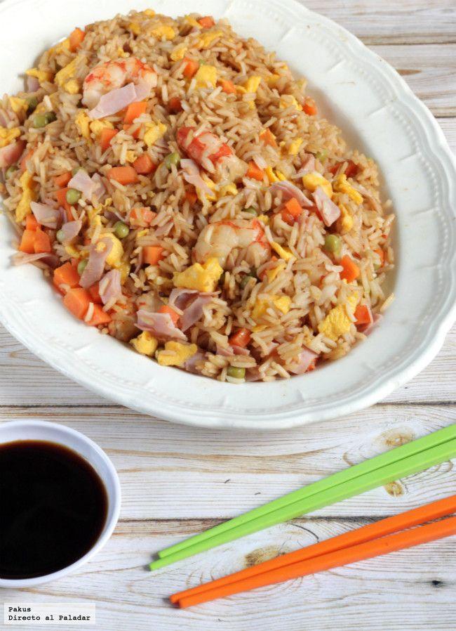 Receta de arroz tres delicias