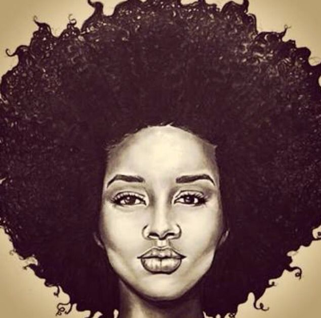 how to draw afro hair
