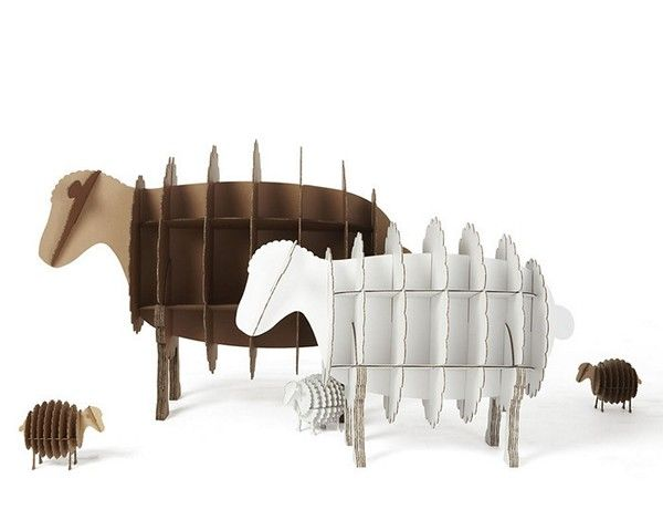 Furniture and home accessories made of cardboard