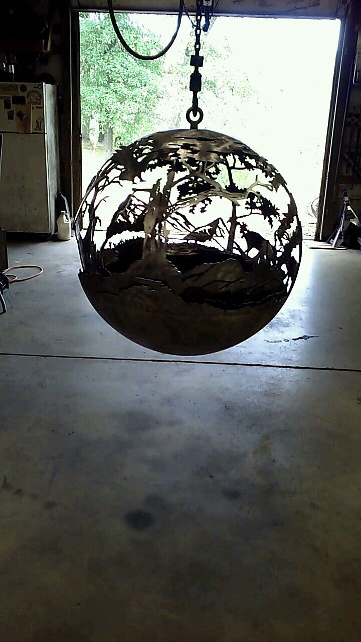 17 Best images about Metal Firepits, sphere firepits ...