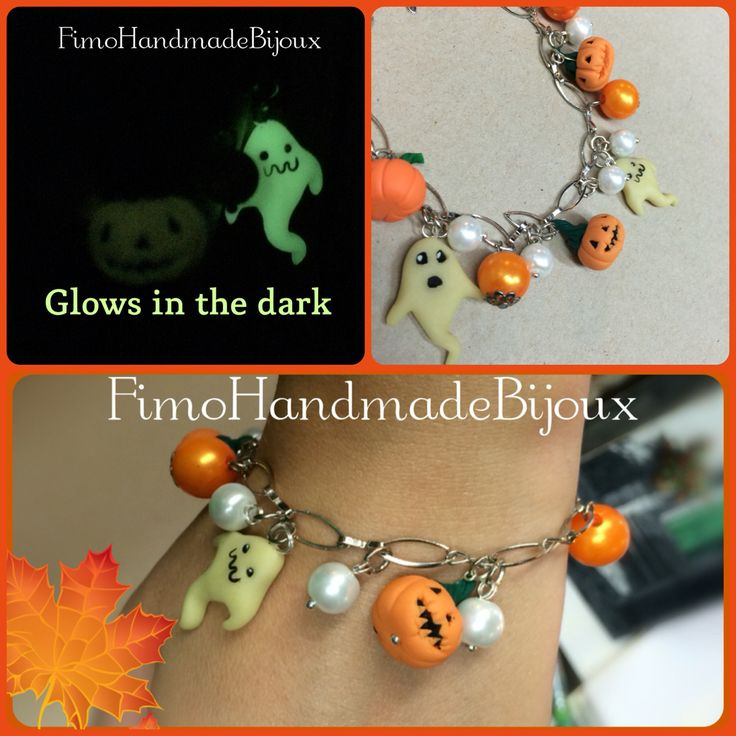 #polymerclay #glowsinthedark #pumpkinhalloween #ghost #halloween #handmade  Shop online-->   https://www.etsy.com/it/listing/250288131/halloween-pumpkin-party
