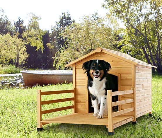 Bietet Schutz vor #Wind und #Wetter: #Holz-Hundehütte für €129,00 bei #Tchibo