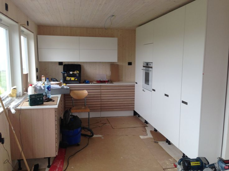 Kitchen in the making.