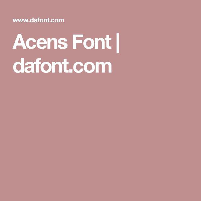 Acens Font | dafont.com