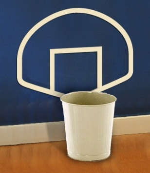 'Waste-Basket-ball' vinyl wall decal