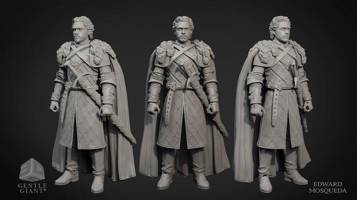 ArtStation - Robb Stark - Game of Thrones action figure, edward mosqueda