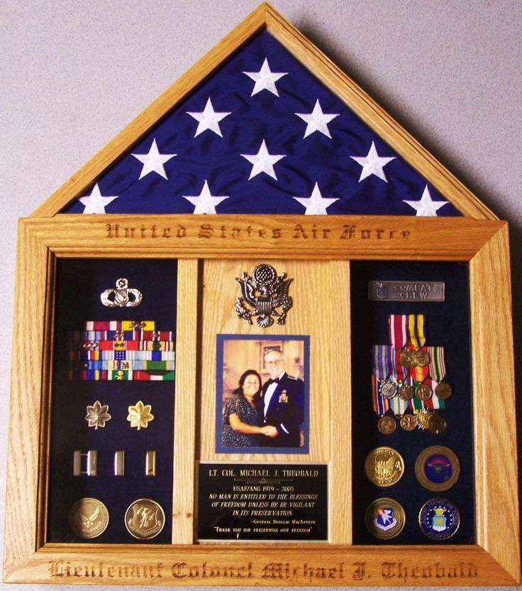Military Retirement Box Shadow Box Picture Frames Diy