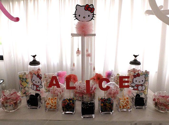 """Buon Compleanno Alice ! : Nella splendida location del Hotel Mec di Paestum sabato 11 Maggio si è tenuta la festa di compleanno della piccola Alice… Il tema???…………. Ovviamente """"Hello Kitty"""" Così ecco spiegati la marea di palloncini rosa e bianchi che hanno accolto i piccoli invitati sin dal""""ingresso dove troneggiava un maestosoarco e poi sui tavoli con delle piccole composizioni fino alle colonne che incorniciavano l'angolo Candy Bar con un mondo di caramelle e..."""