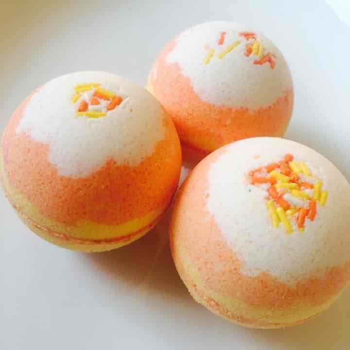 Candy corn  scented bath bomb bath fizzy - Mercari: Anyone can buy & sell