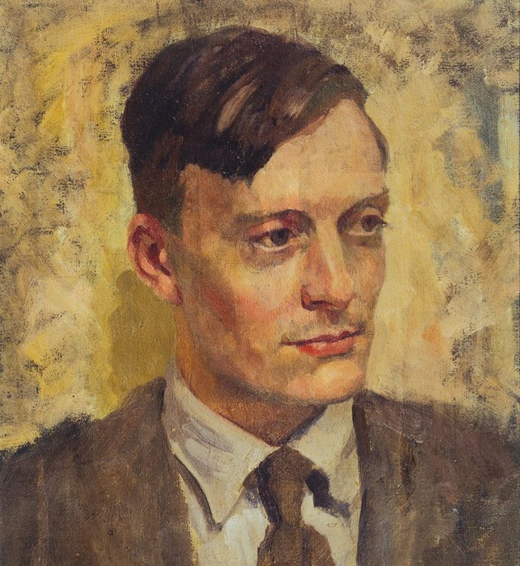 "Painter ""Eric Ravilious"" - Self-portrait? Either that or by Phyllis Dodd."