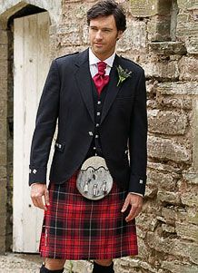 This kilt is very close to the colors of MacBride/MacDonald tartan. If the men are this dressed up, it has to be a very formal occasion...............