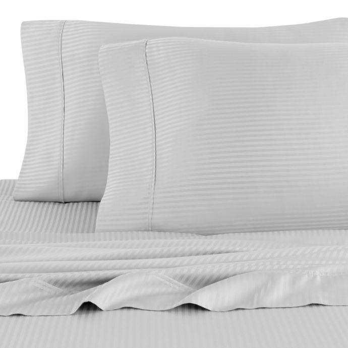 Eucalyptus Origins 450 Thread Count Striped Sheet Set Bed Bath