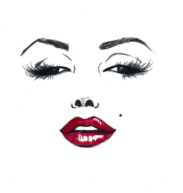 A classic face // Marilyn Monroe // Ink & Watercolor // Gina Schiappacasse