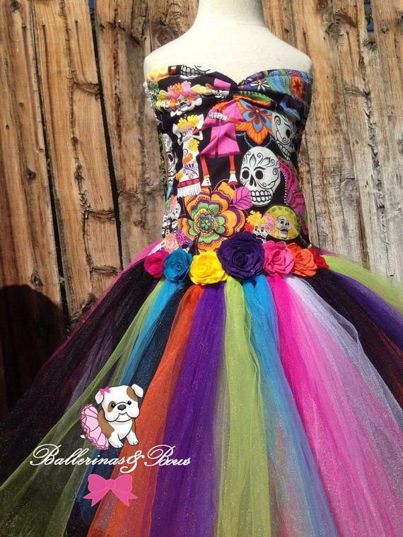 Día de las niñas del muerto tutu vestido-Dia De por BallerinasNBows