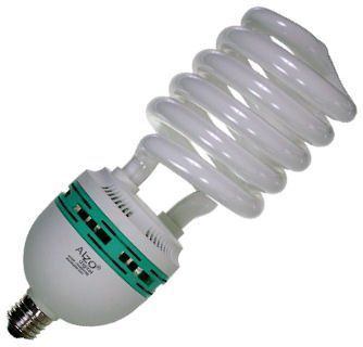 Full Spectrum Light Bulb - ALZO 85 watt CFL 5500K - daylight balanced pure white light - 4250 Lumens