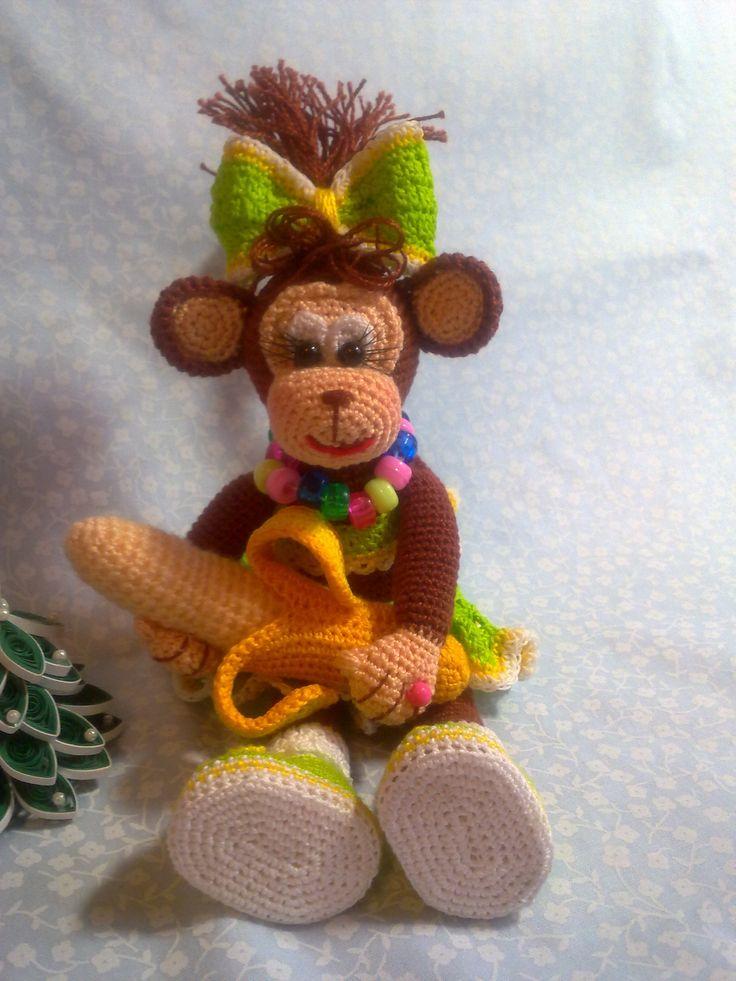 129 besten monkeys (crochet) Bilder auf Pinterest | Affen, Spielzeug ...