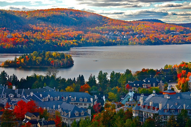 Mont Tremblant, Canada.  No matter what the season, Mont Tremblant is always beautiful.