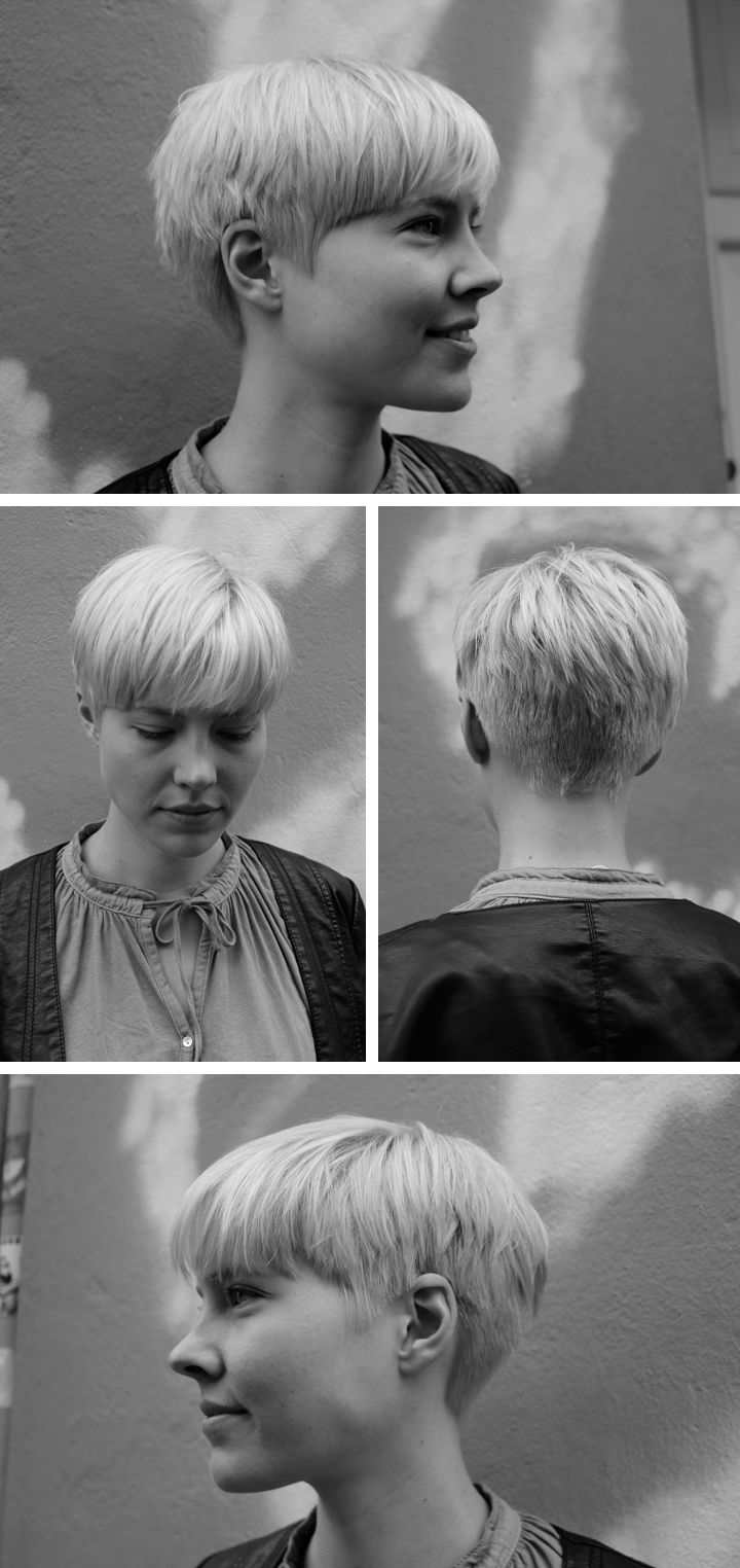 Cute cropped pixie with many angle views.