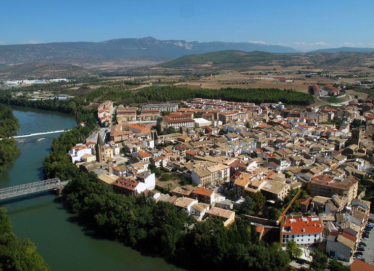 Vista aérea de Sangüesa, Navarra, Camino Aragonés