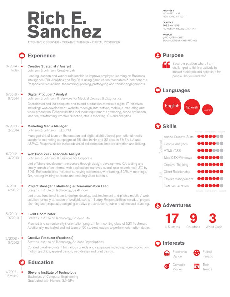 12 Best {Resume} Images On Pinterest | Infographic Resume, Resume