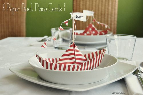 Cute paper boat party theme