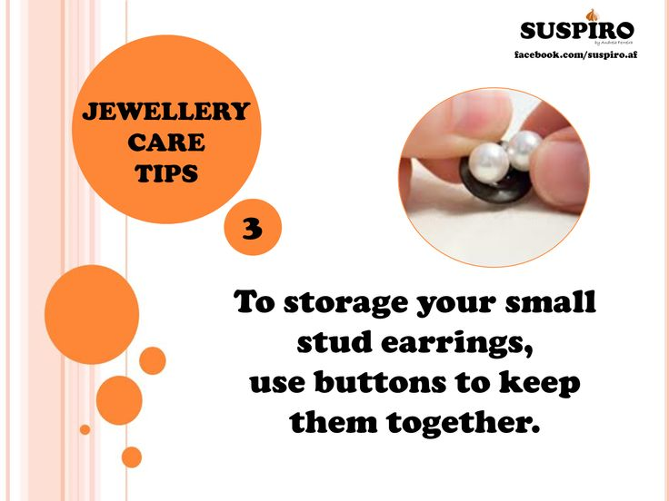 #Suspiro #Jewelry #Care #Tips To storage your #small #stud #earrings,  use #buttons to keep them together.