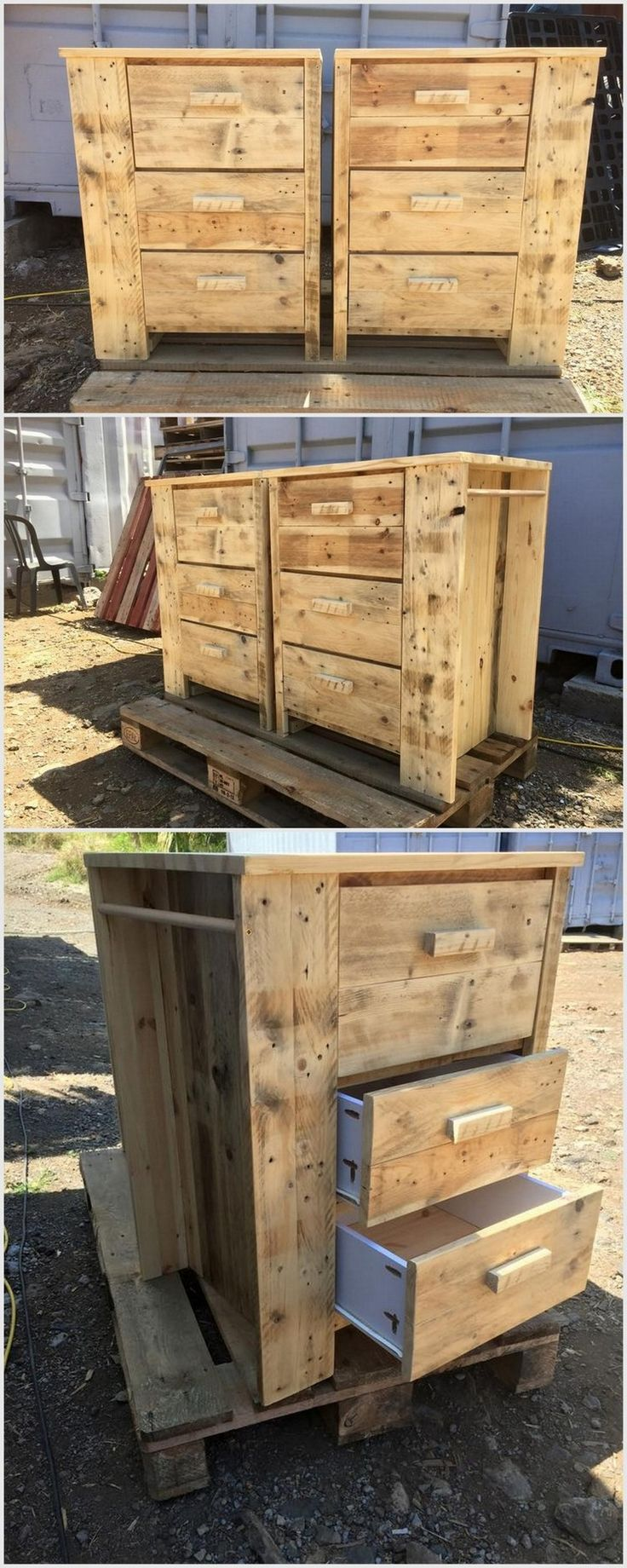 475 best images about pallet tables on pinterest - Palette recyclee ...