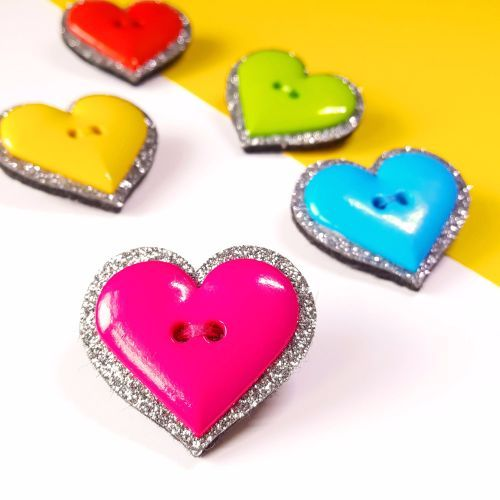 Glitter Heart Brooch - add a bit of sparkle to your outfit!