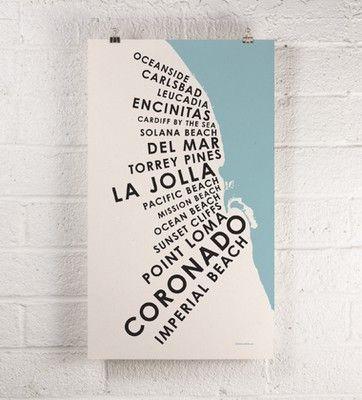 <3 San Diego: Beaches, San Diego, Orange, Towns Print, Favorite Places, Beach Towns, Parks, Diego Beach, Sandiego