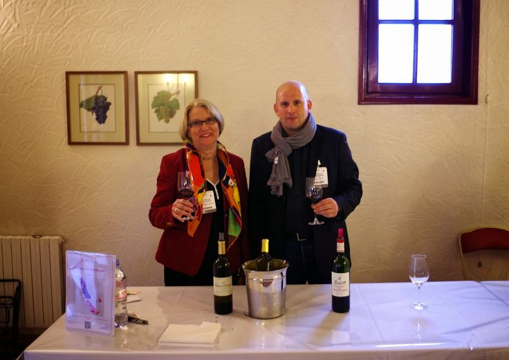 Marie-Hélène Lévêque and Arnaud Dubois are presenting the futures of chateau de Chantegrive