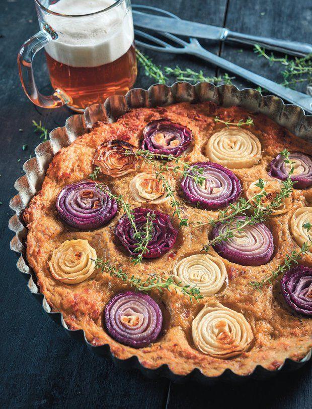 Cibulový koláč z bramborového těsta , Foto: Dnes napeču!
