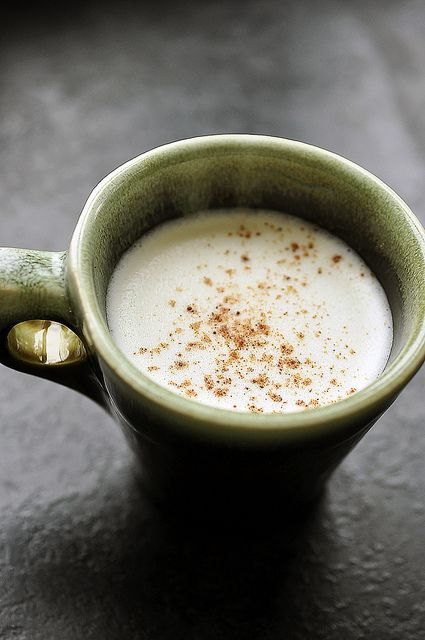 Are you familiar with Tom & Jerrys, folks? The warming holiday cocktail made with eggs, sugar, two types of dairy, spices, and either brandy or rum (or creme de cocoa, if you are me)? This ain't like anything I grew up with in the old country, but it can sure be nice on a cold December night...