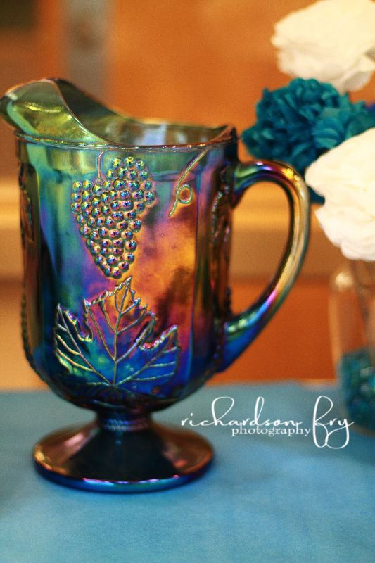 love this vintage glass pitcher!