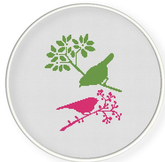 Instant Download,Free shipping,Cross stitch pattern, Cross-Stitch PDF, pattern design ,birds pattern,zxxc0278 on Etsy, $4.50