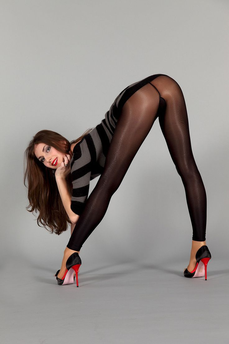 Women in spandex pantyhose tights
