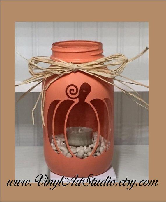 Tiza pintados Quart tarro vela titular de la por vinylartstudio