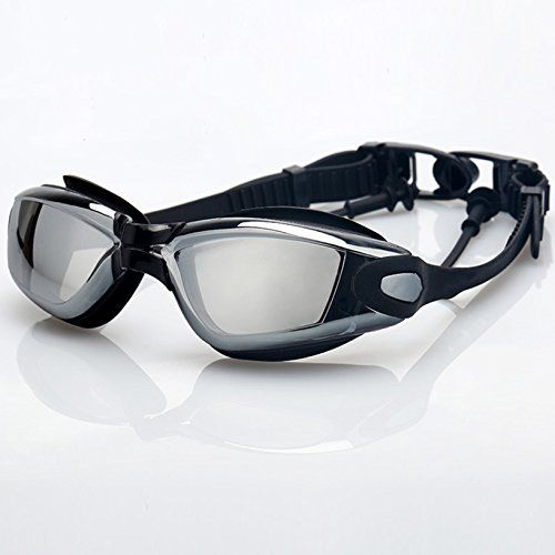 Toyofmine Swimming Goggles with Siamese Ear Plugs  UV Protection Anti Fog  Best Swim Goggles Black >>> For more information, visit image link.Note:It is affiliate link to Amazon.
